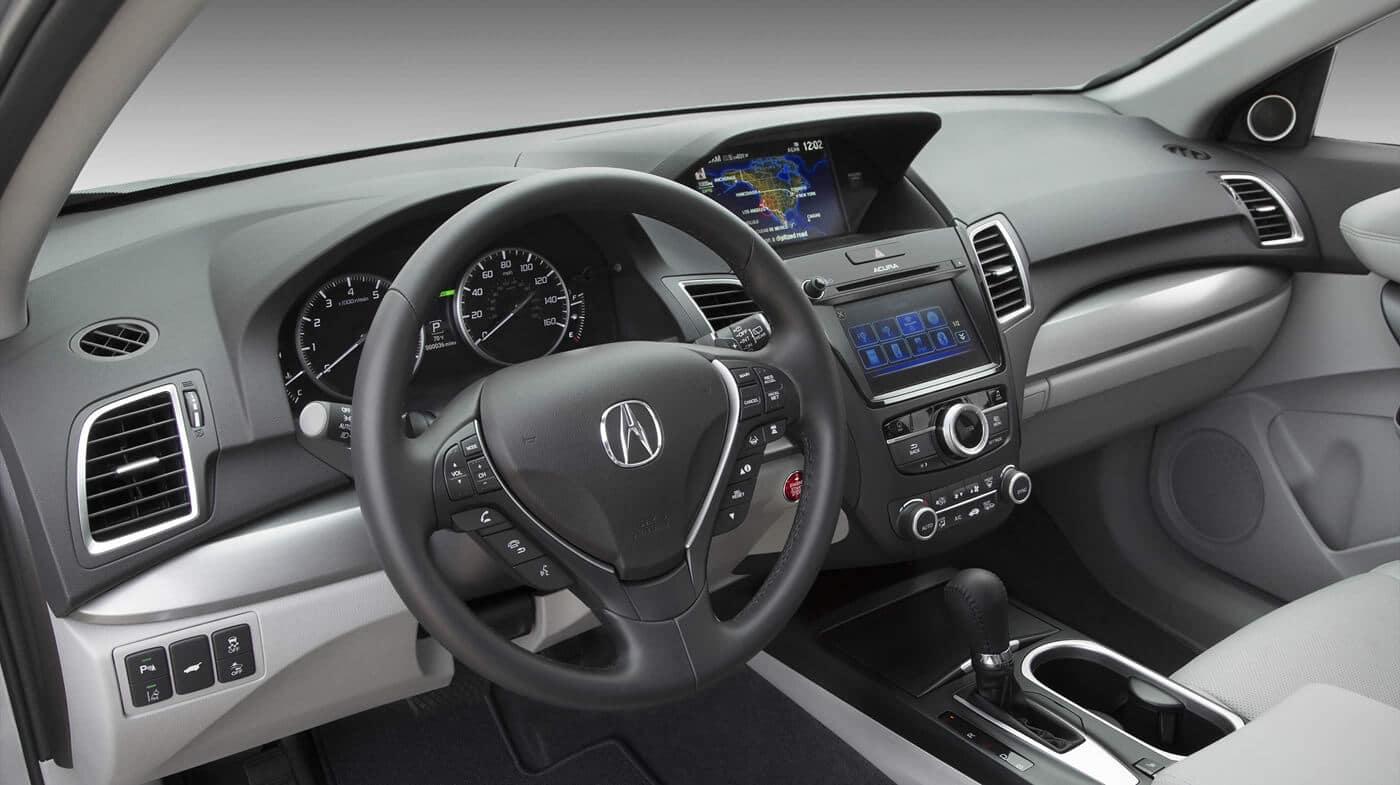 Acura RDX interior dashboard and steering wheel