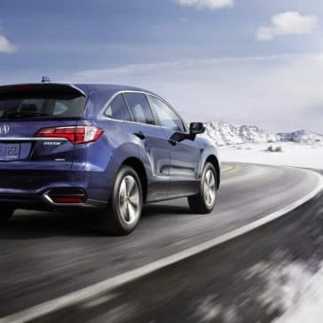Acura RDX driving in winter conditions