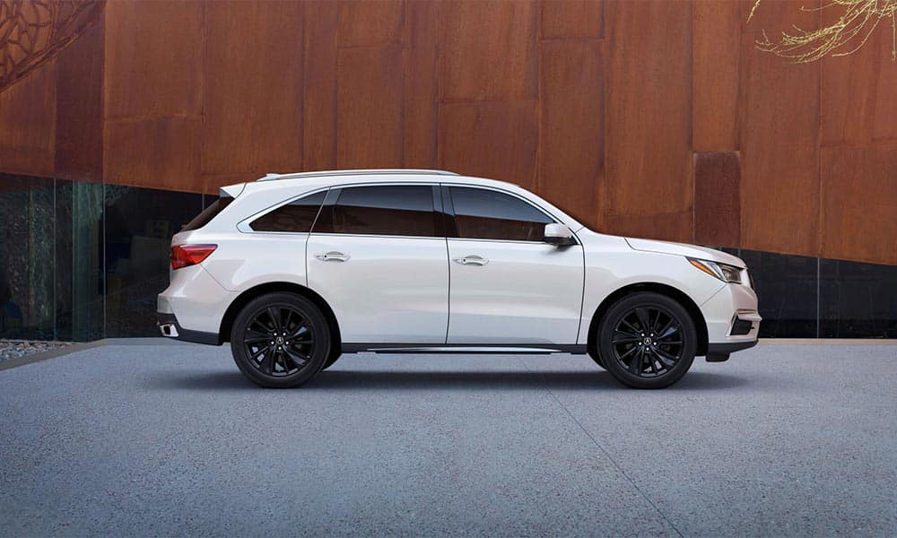 2018 Acura MDX Advance Pkg White Diamond Pearl Berlina Black Alloy Wheels