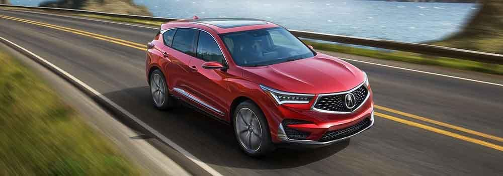 Future Acura RDX Protype driving down a road