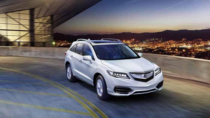 2018 Acura RDX Driving on a Highway Ramp
