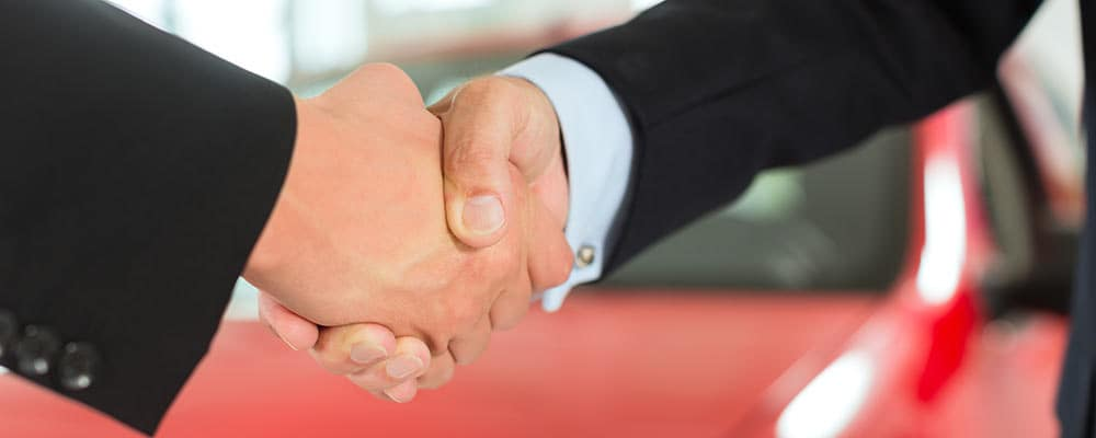 Two men handshaking