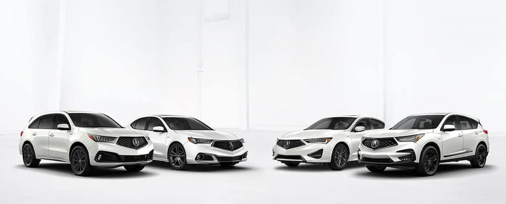 White Acura vehicles
