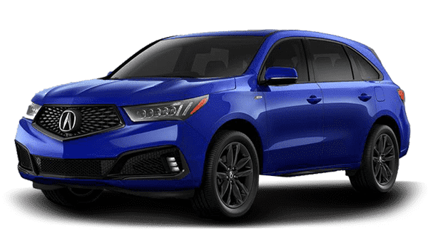 Blue 2019 Acura MDX