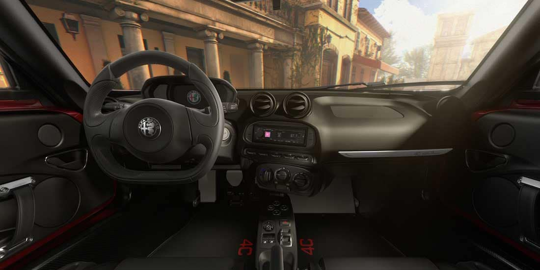 New Alfa Romeo 4C Interior