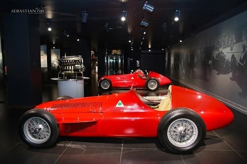 red 1950 Alfa Romeo 159 single-seat race car found in museum