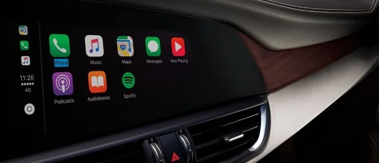Apple CarPlay® featured in the 2019 Alfa Romeo Giulia
