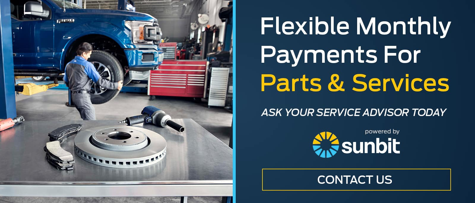 flexible monthly payments for parts and services