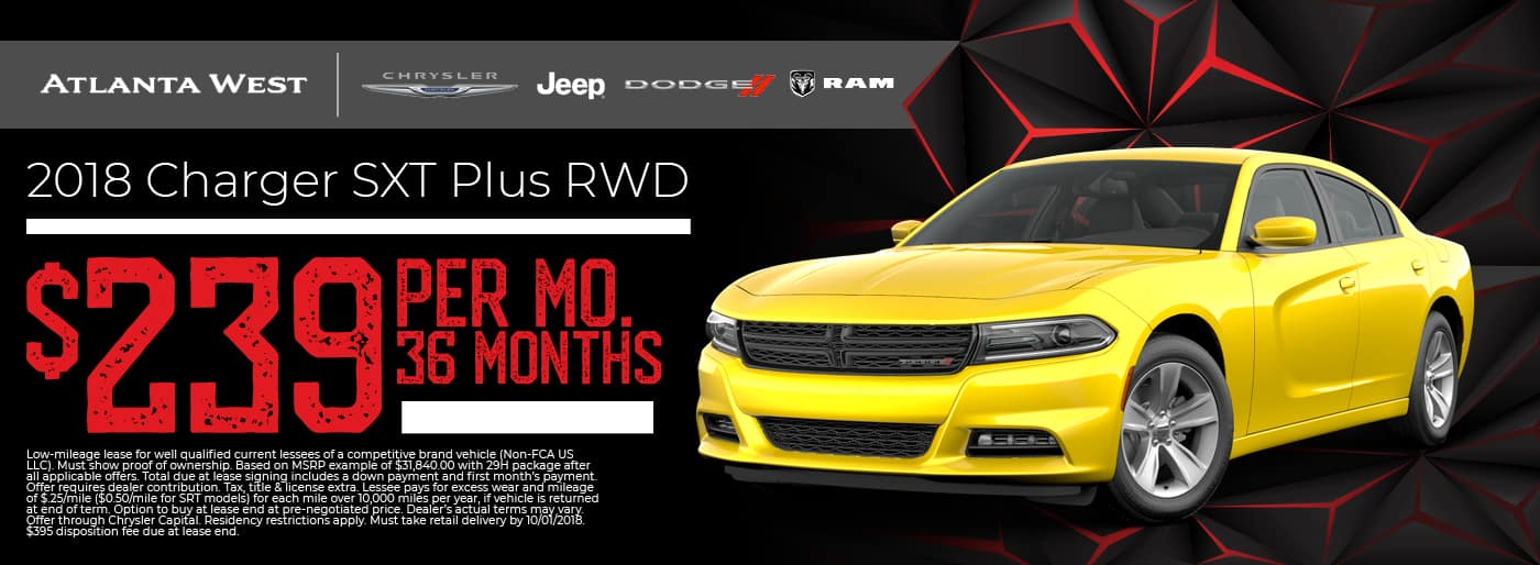 Dodge Charger $239 per month