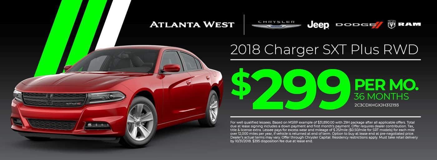 2018 Charger SXT Plus RWD