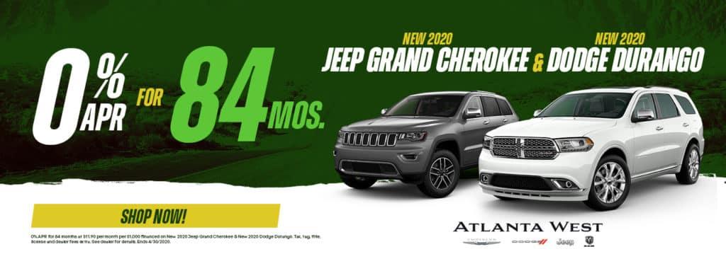 New Dodge Durango and Jeep Grand Cherokee Sale