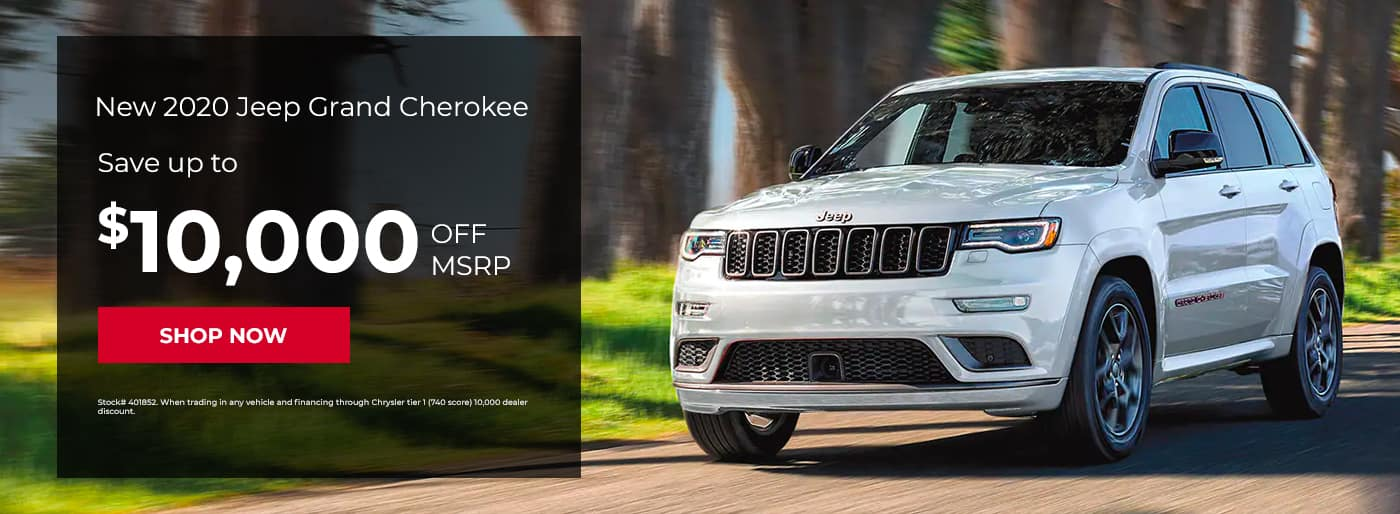 New 2020 Jeep Grand Cherokee, Save up to $10,000 off MSRP