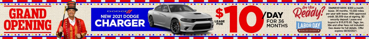 New 2021 Dodge Charger lease for $10/day - SHOP NOW