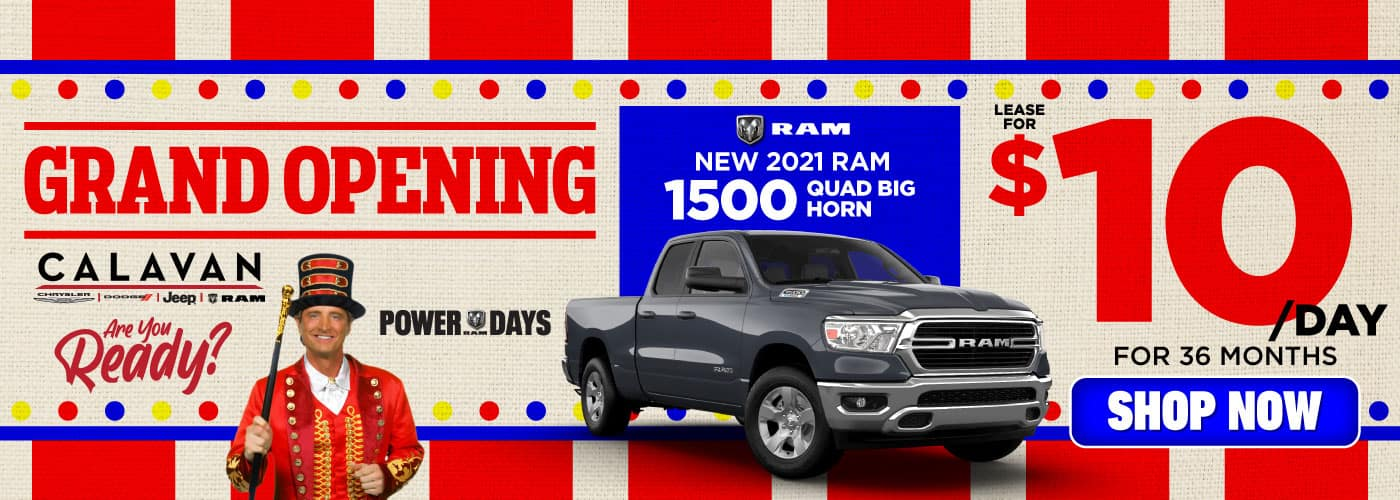 New 2021 RAM 1500 lease for $10/day - SHOP NOW