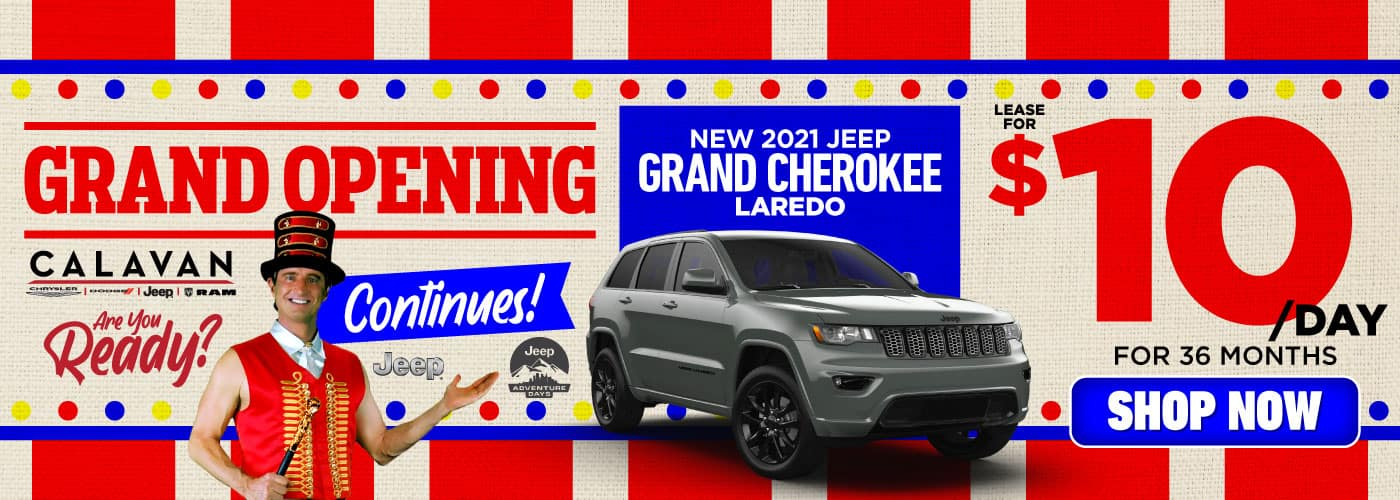 New 2021 Jeep Grand Cherokee lease for $10/day - SHOP NOW