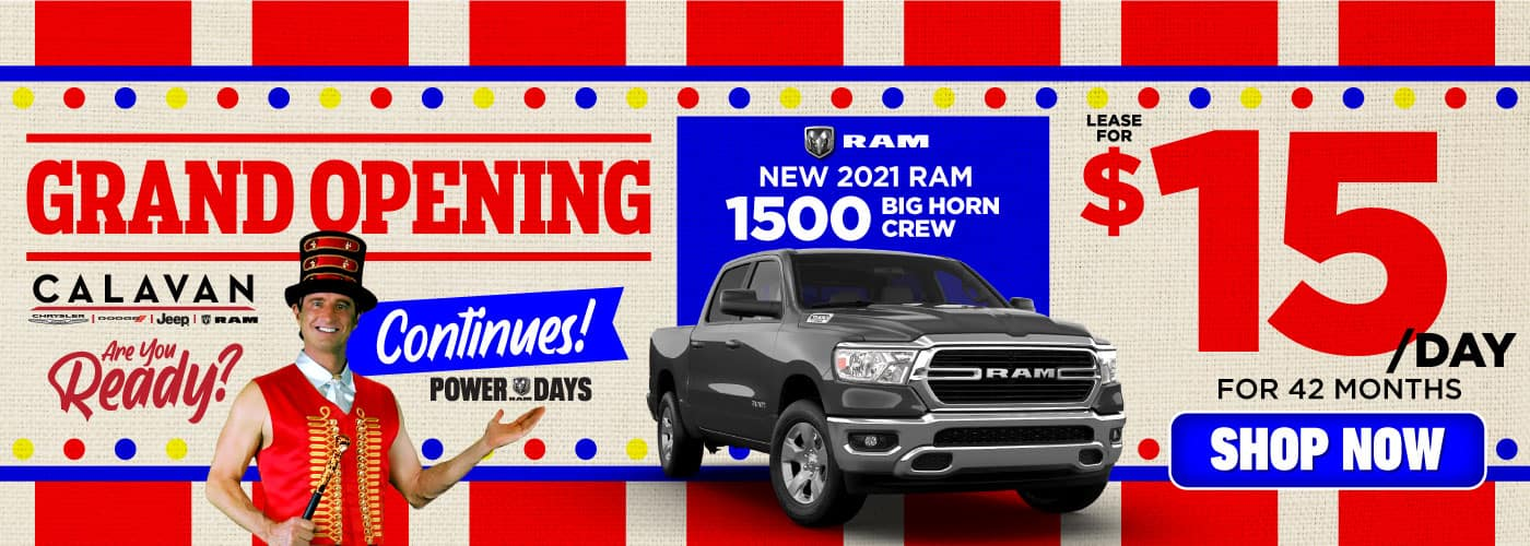 New 2021 RAM 1500 lease for $15/Day - SHOP NOW