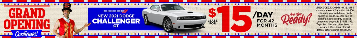 New 2021 Dodge Challenger only $15/day