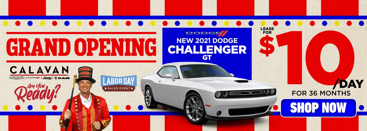 New 2021 Dodge Challenger lease for $10/day - SHOP NOW