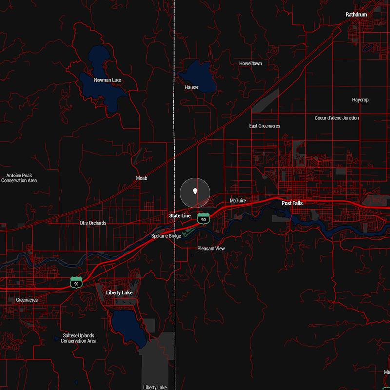 Post Falls Map