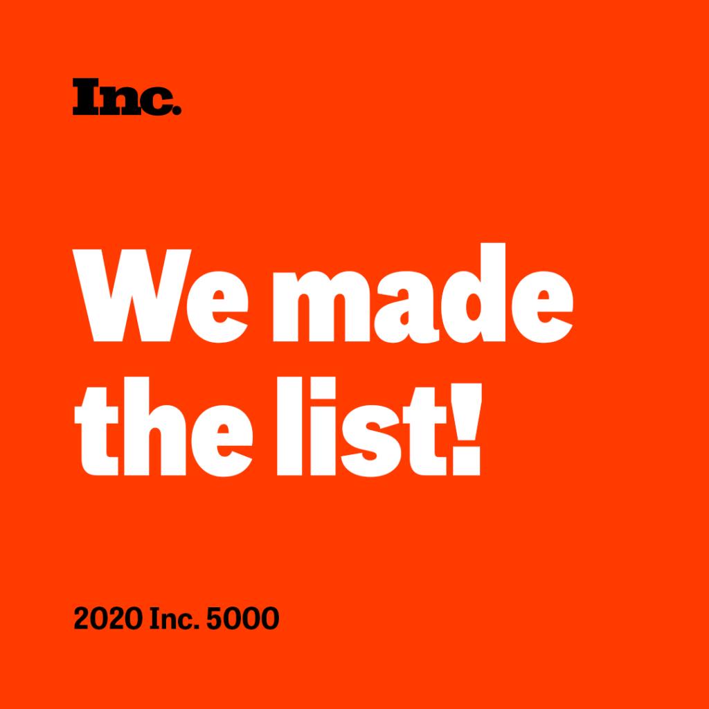 Inc Inc5000 WeMadeTheList SocialCard 1080x1080 v3