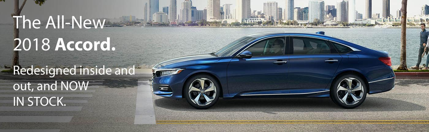 The all new 2018 Honda Accord. Redesigned inside and out and now in stock at Beaverton Honda.
