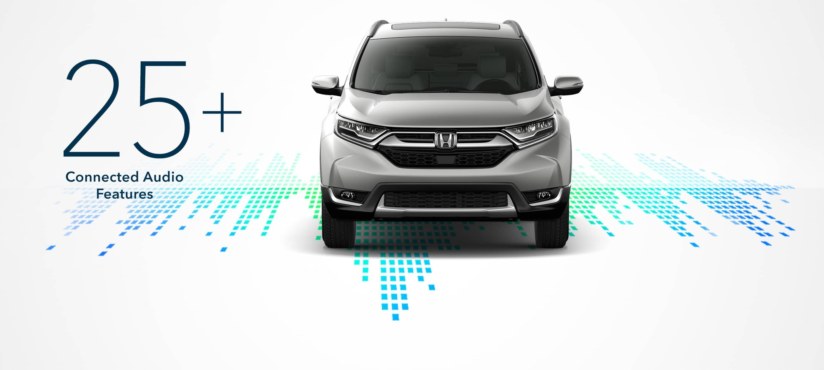 2017 Honda CR-V has over 25 connected audio features