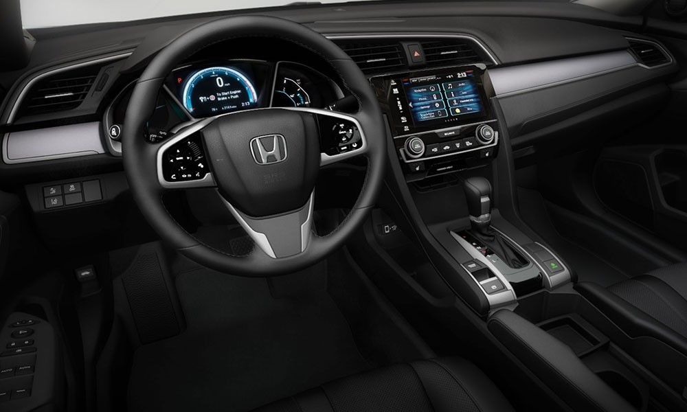 The 2017 Honda Civic cockpit. Every button and feature is well placed.