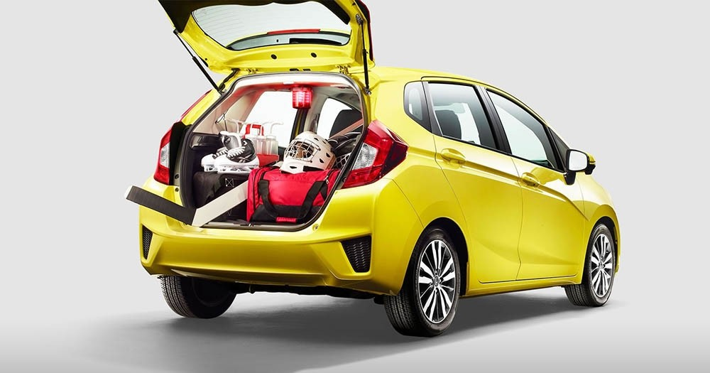 The 2017 Honda Fit versatile cargo area.