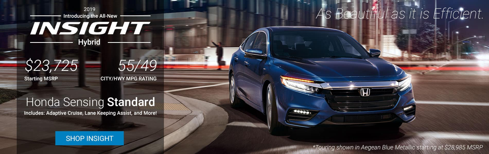 The 2019 Honda Insight Now in stock at Beaveton Honda!