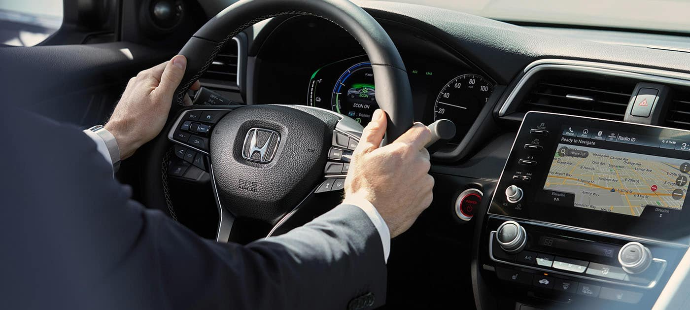2019 Honda Insight available leather wrapped steering wheel