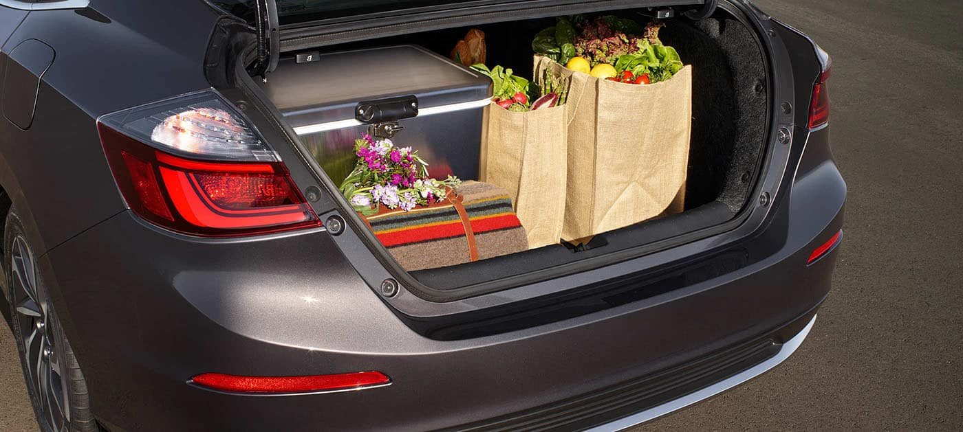 Large trunk on the 2019 Honda Insight