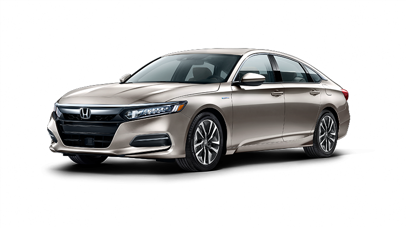 2018 Honda Accord Hybrid in Champagne Frost Pearl