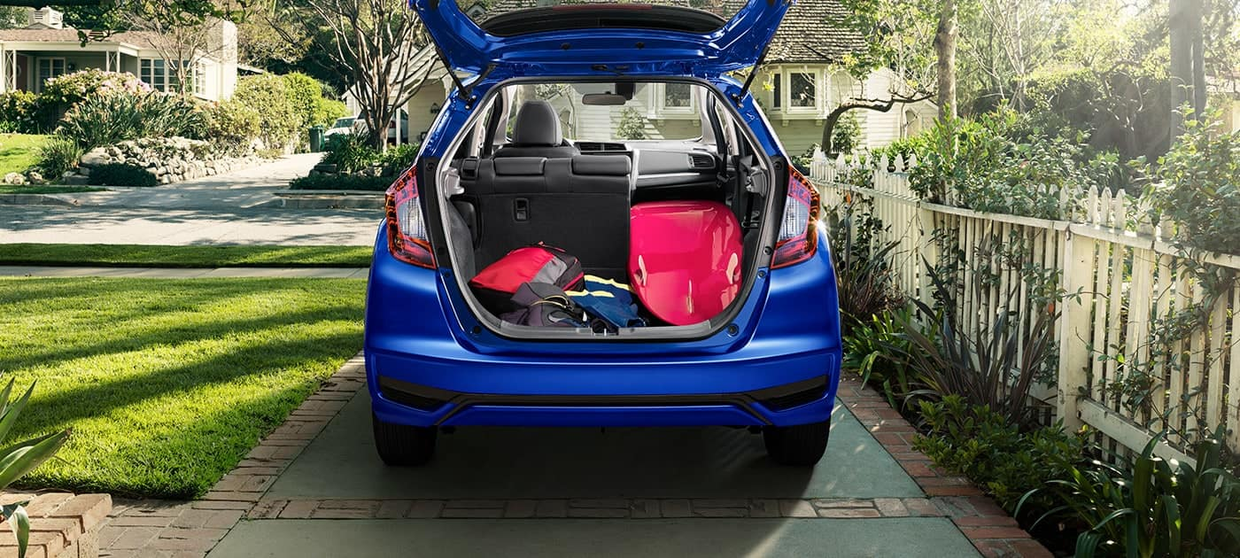 2019 Honda Fit with rear seats in Long Mode