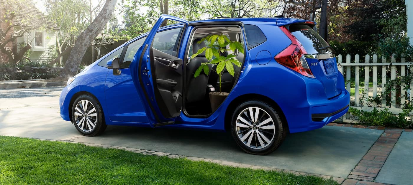 2019 Honda Fit with rear seats in Tall Mode