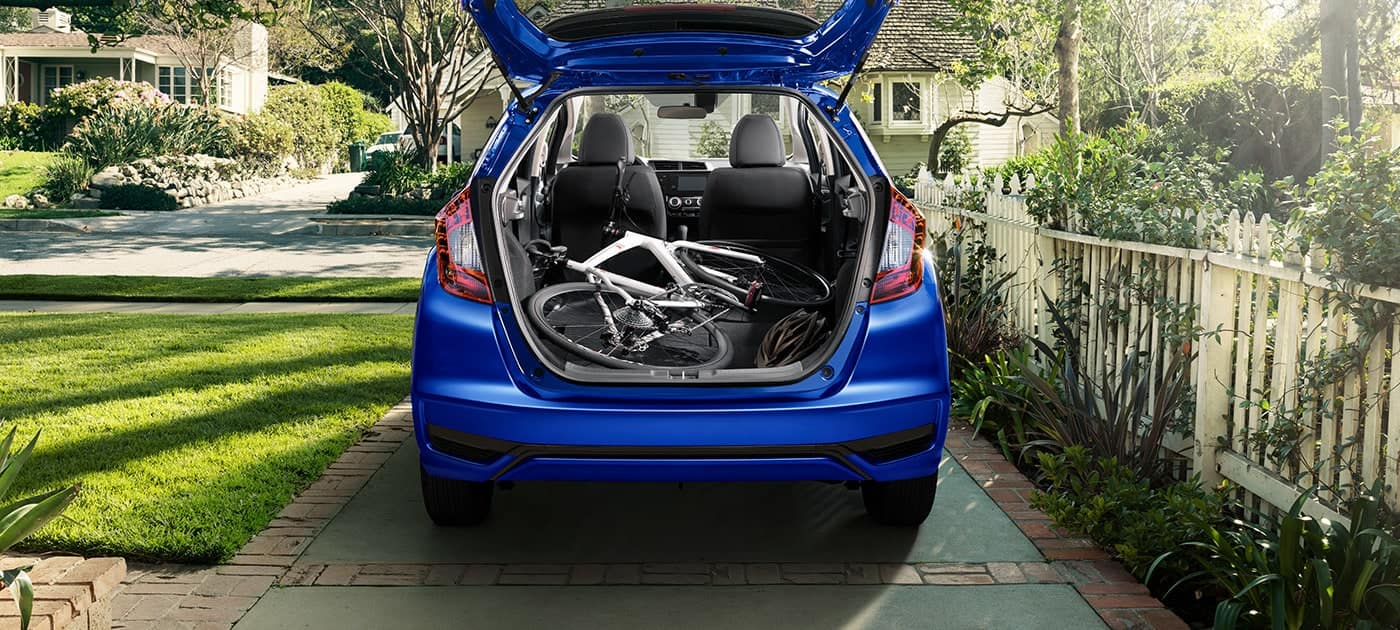 2019 Honda Fit with rear seats in Utility Mode