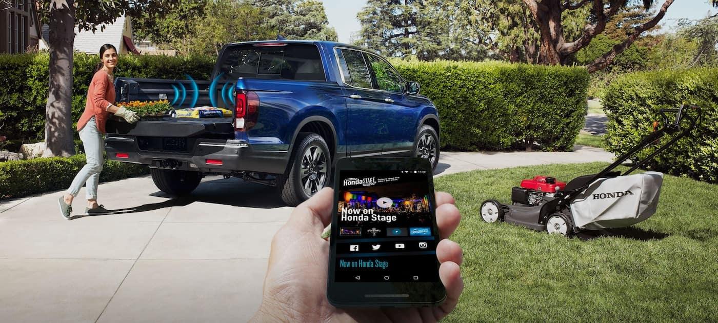 Truck bed audio available on the 2019 Honda Ridgeline