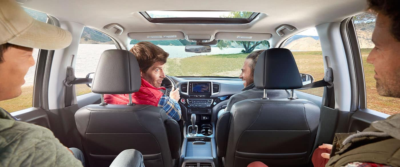 Comfortable seating for five in the 2019 Honda Ridgeline