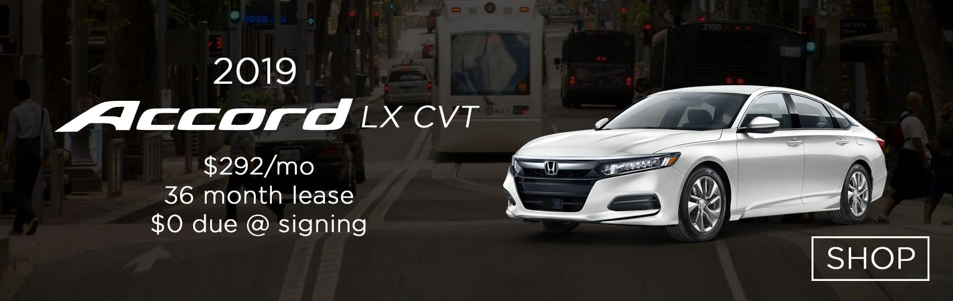Lease a 2019 Honda Accord LX CVT for $295 per month lease with $0 due at signing