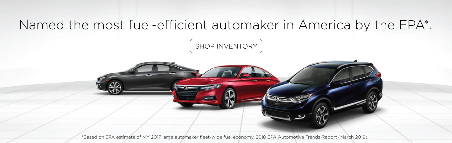 honda named the most fuel-efficient automaker in America by the EPA