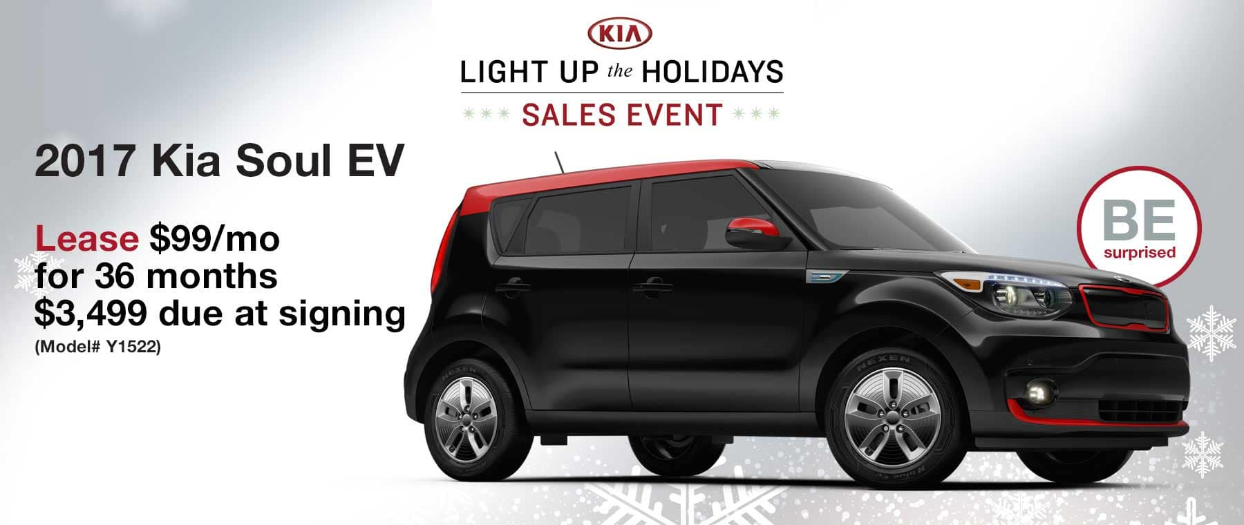 Lease a 2017 Kia Soul EV for $99 per month with $3,499 due at signing