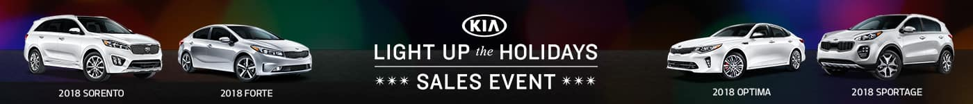 Light up the Holidays Kia Sales Event going on now through January 2nd, 2018