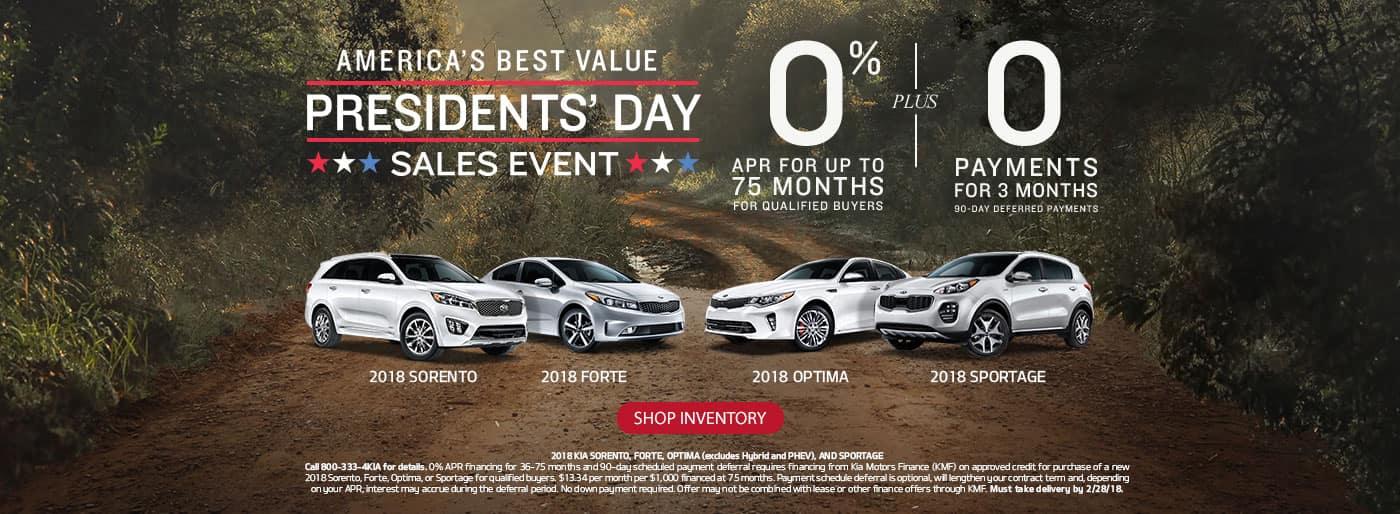 Kia's Presidents' Day Sales Event