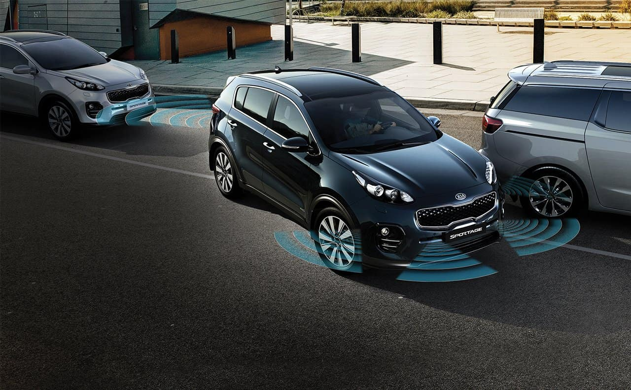 Front and rear park assist available on the 2019 Kia Sportage