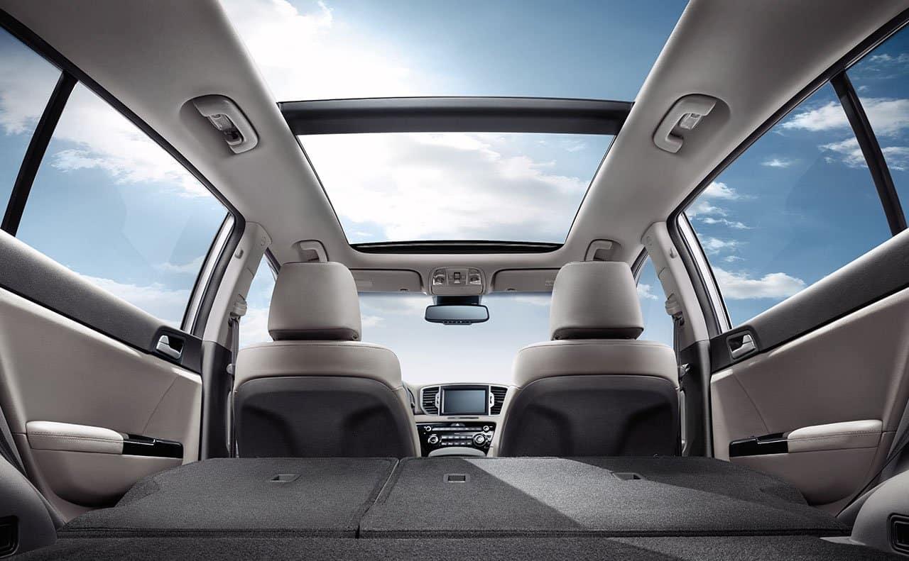 2019 Kia Sportage interior panoramic moonroof