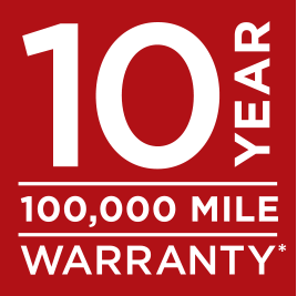 Kia's outstanding warranty of 10 years, 100k miles on all new Kias