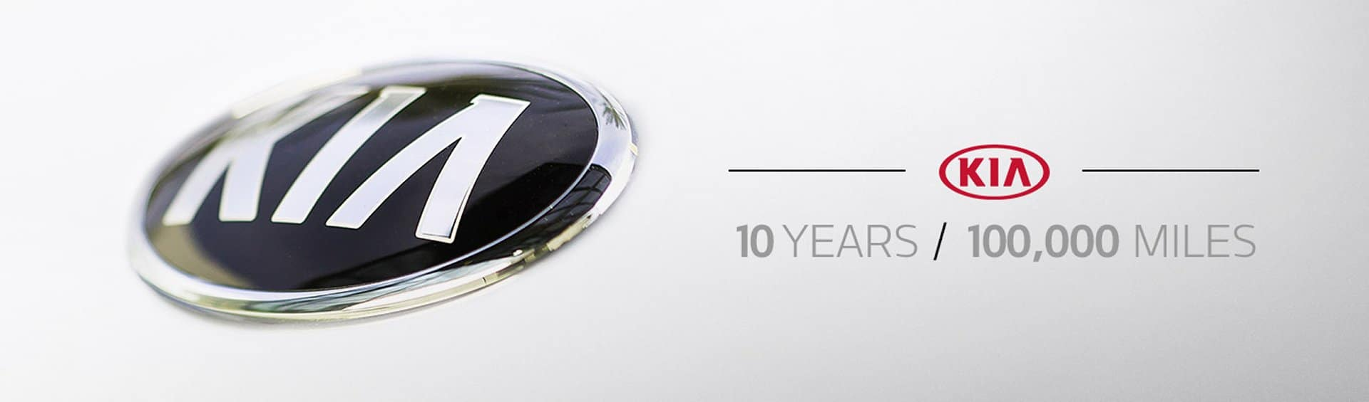 Kia's leading 10 year 100,000 Mile warranty included on every new Kia
