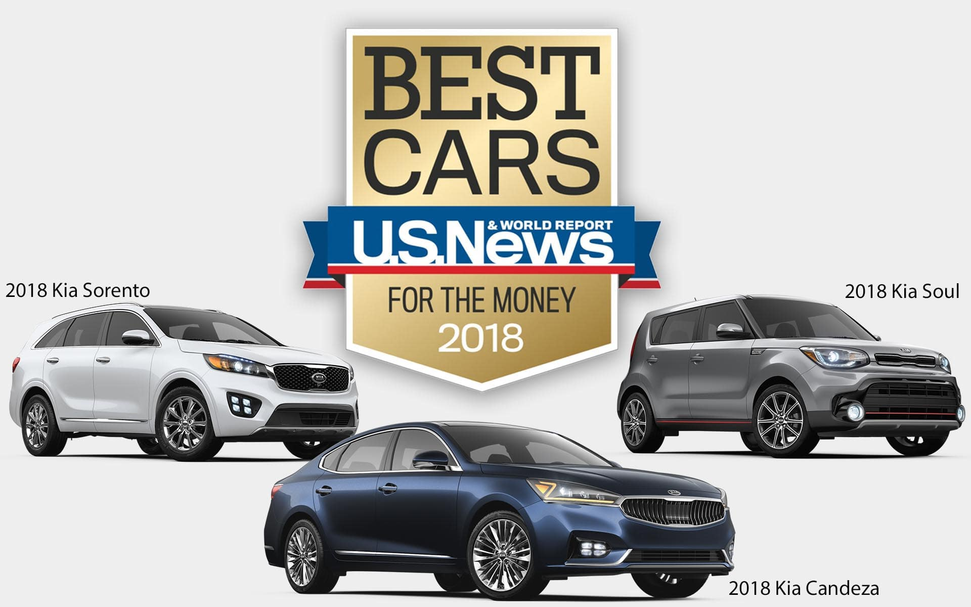 Kia U.S. News & World Report Best Cars for the Money winner