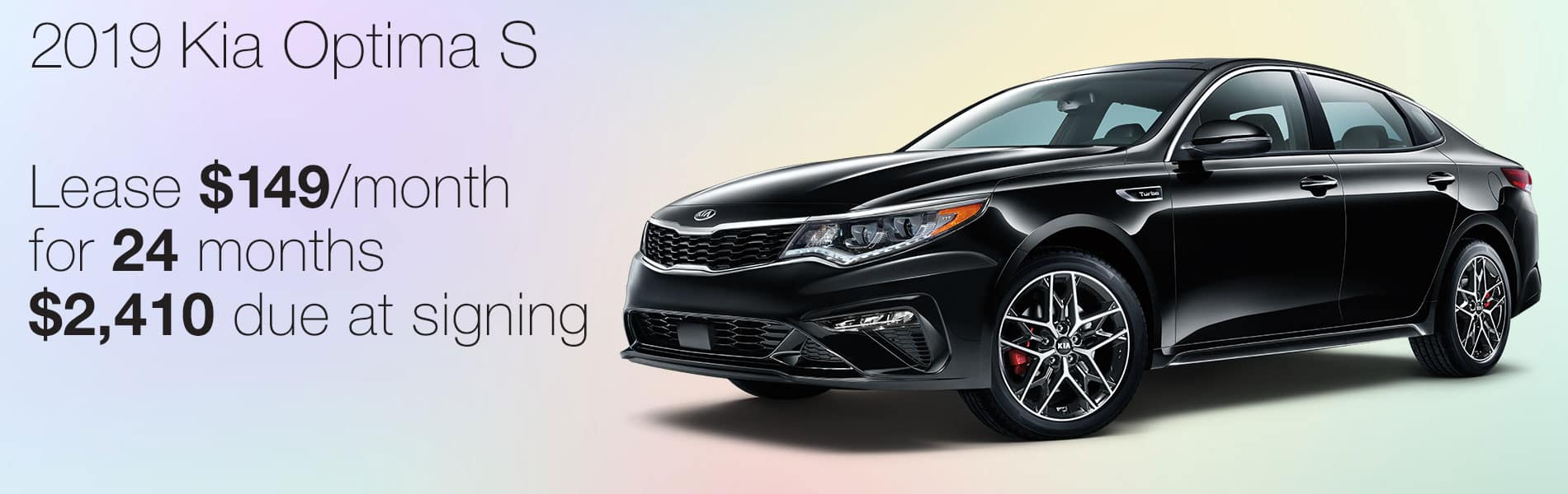 Lease a 2019 Kia Optima S for $149 per month with $2,410 due at signing