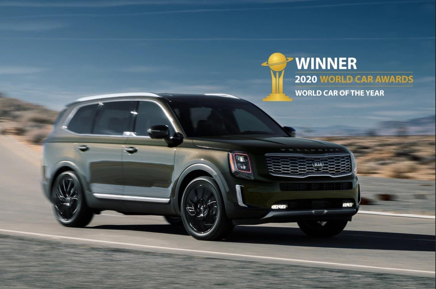 Kia Telluride winner of the 2020 World Car Awards World Car of the Year