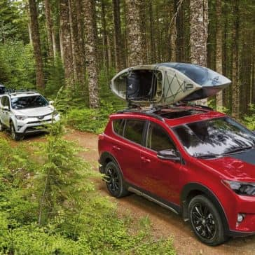 2018 Toyota RAV4 with kayak on the roof